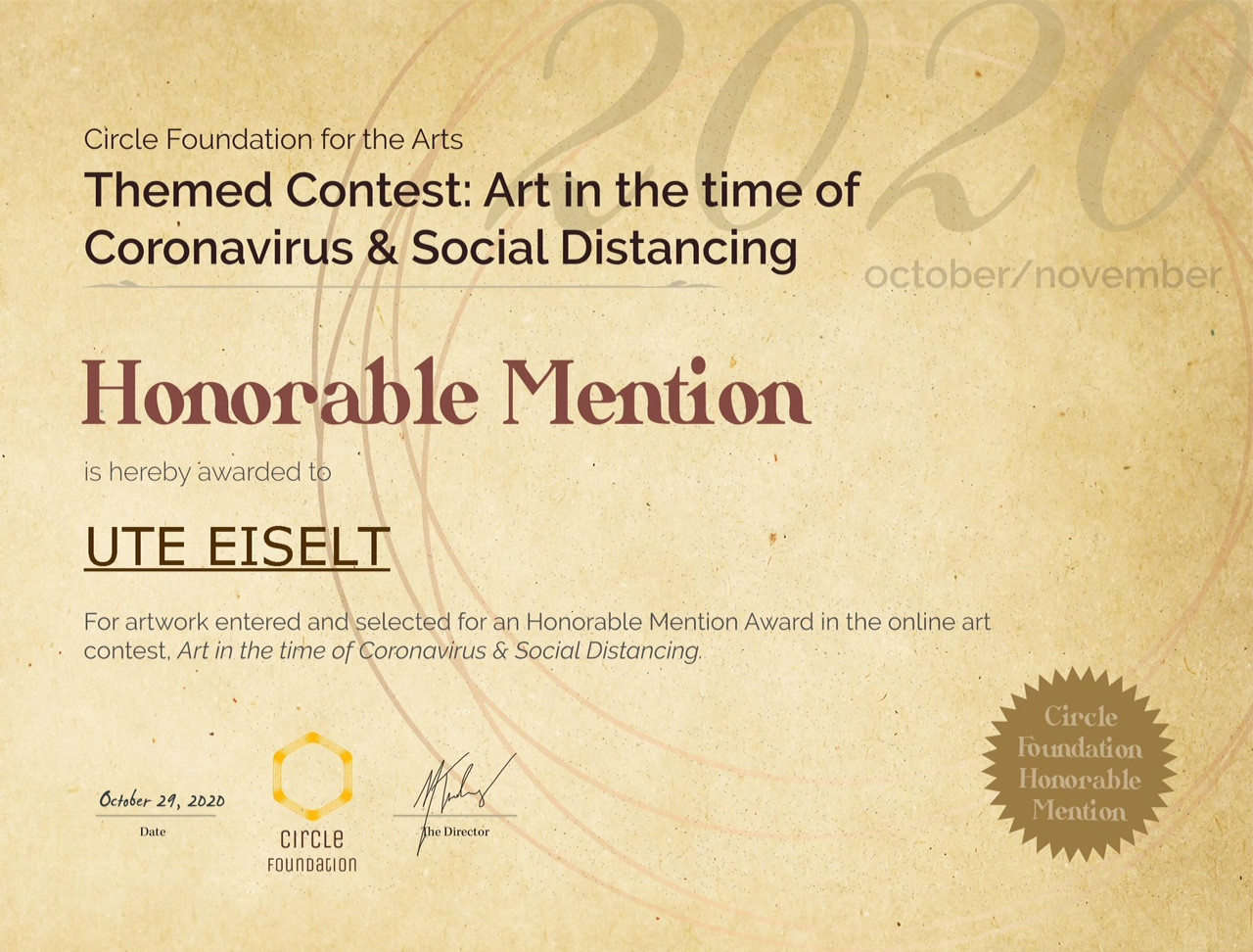 CFA Contest Honorable Mention UTE EISELT